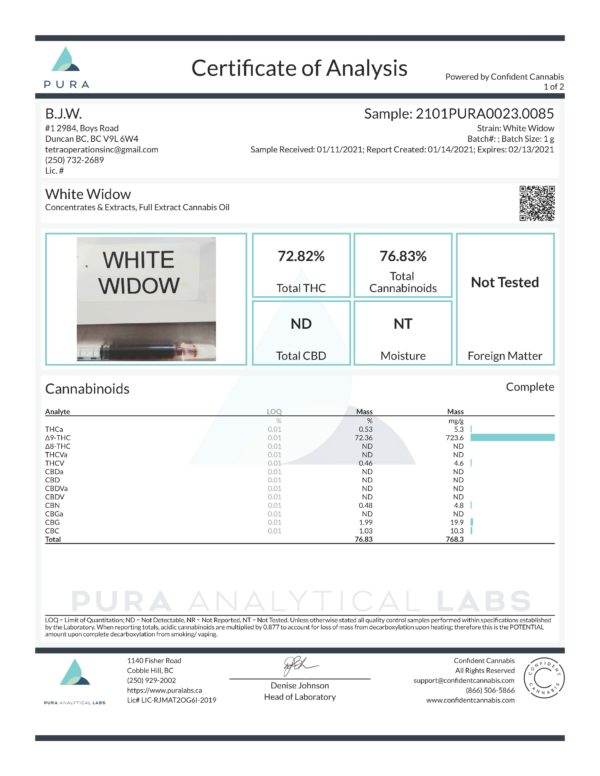 White Widow Page 1 scaled